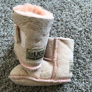 Infant baby Sherpa Ugg boots booties 12 18 24 mo